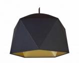 suspension plafonnier origami noir intérieur or mat