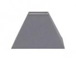 abat-jour Pyramide coton gris