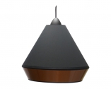 Suspension aspect cuivre et coton noir forme WOK